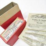 パッケージ&パッケージに味のある雑貨&チーズボックスなど  ジャンク雑貨 1920~40s イーグル社 バイオリンの弦 ボックス入り NO.203