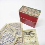 パッケージ&パッケージに味のある雑貨&チーズボックスなど  ジャンク雑貨 1920~40s バンジョーの弦 ボックス入り