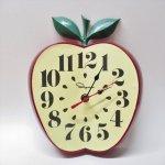 リビング  ヴィンテージウォールクロック Ingraham社 アップル壁掛け時計