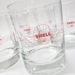 アドバタイジング  ヴィンテージグラス シェル石油 Shell ヘビーボトムタンブラーグラス A