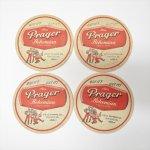 キッチン  ヴィンテージペーパーコースター Prager ボヘミアン ライトラガービール 4枚セット A