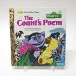 E.T.など他キャラクター  セサミストリート リトルゴールデンブックSサイズ The Count's Poem カウント伯爵の詩 絵本