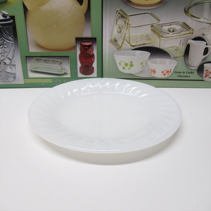 ファイヤーキング ホワイト スワール サラダプレート D【画像2】