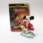 ツリーにつけるオーナメント  マクドナルド ミールトイ ディズニー ミッキー クリスマスオーナメント ビデオカセット風ケース付き