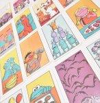 トランプ・パズル・ゲーム・塗り絵・ステンシルなど  ヴィンテージカードゲーム セサミストリート