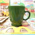 ヘーゼルアトラス  ヘーゼルアトラス エッグノッグマグカップ 緑 アウトレット