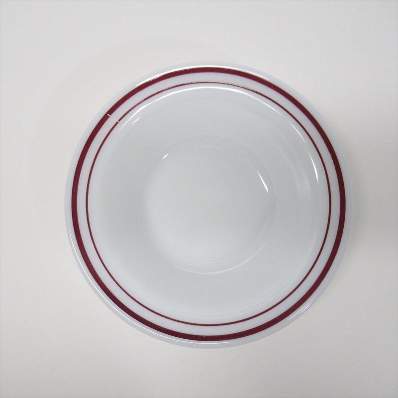 パイレックス バーガンディーバンド シリアルボウル A【画像3】