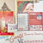 チケット、スコアパッドなどの紙物・紙モノ雑貨  紙モノ雑貨 ヴィンテージ クリスマス コラージュ 8ピース アソート