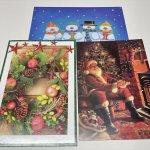 チケット、スコアパッドなどの紙物・紙モノ雑貨  紙モノ雑貨 未使用クリスマスカード3枚セット B