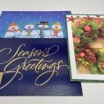チケット、スコアパッドなどの紙物・紙モノ雑貨  紙モノ雑貨 未使用クリスマスカード3枚セット C