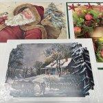 チケット、スコアパッドなどの紙物・紙モノ雑貨  紙モノ雑貨 未使用クリスマスカード3枚セット D