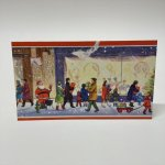 チケット、スコアパッドなどの紙物・紙モノ雑貨  紙モノ雑貨 ヴィンテージ 使用済クリスマスカード クリスマスの街並み