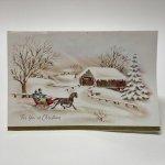 チケット、スコアパッドなどの紙物・紙モノ雑貨  紙モノ雑貨 ヴィンテージ 使用済クリスマスカード クリスマスの景色