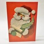 チケット、スコアパッドなどの紙物・紙モノ雑貨  紙モノ雑貨 ヴィンテージ 使用済クリスマスカード サンタ