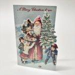 チケット、スコアパッドなどの紙物・紙モノ雑貨  紙モノ雑貨 未使用クリスマスカード ミニサンタカード