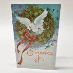 チケット、スコアパッドなどの紙物・紙モノ雑貨  紙モノ雑貨 絵本型未使用クリスマスカード Christmas Joy