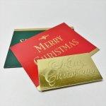 チケット、スコアパッドなどの紙物・紙モノ雑貨  紙モノ雑貨 ヴィンテージ クリスマスカード型 プレゼント用タグ3枚セット