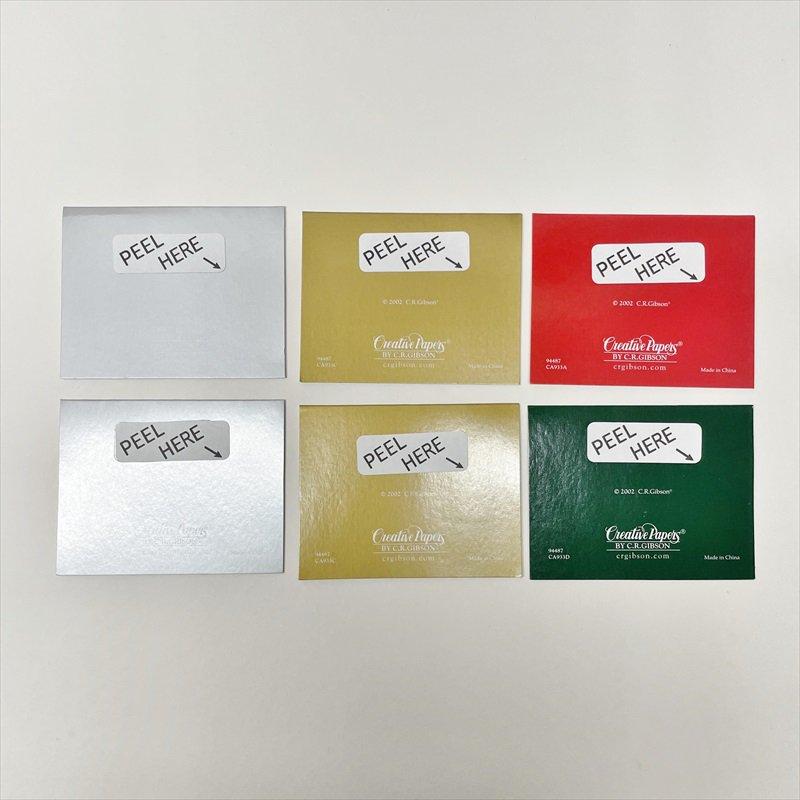 紙モノ雑貨 ヴィンテージ クリスマスカード型 プレゼント用タグ6枚セット【画像3】