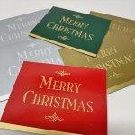 チケット、スコアパッドなどの紙物・紙モノ雑貨  紙モノ雑貨 ヴィンテージ クリスマスカード型 プレゼント用タグ6枚セット