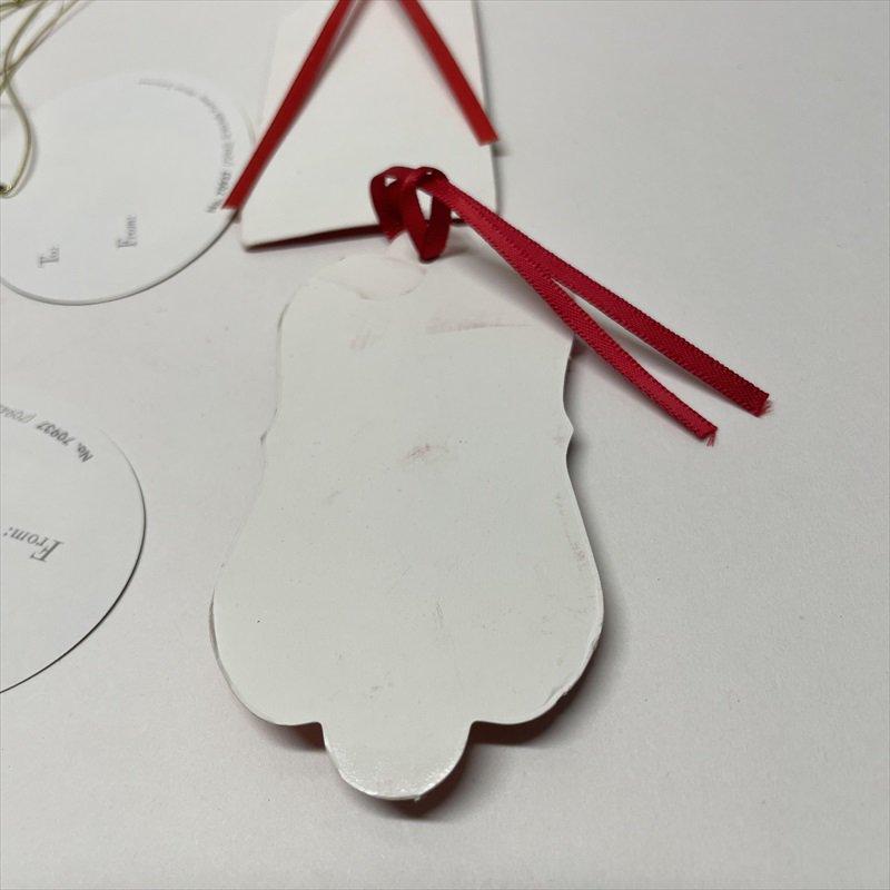 紙モノ雑貨 ヴィンテージ クリスマスプレゼント用ひも付きタグ 7枚セット【画像4】