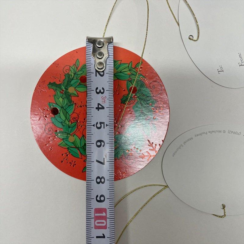 紙モノ雑貨 ヴィンテージ クリスマスプレゼント用ひも付きタグ 7枚セット【画像5】