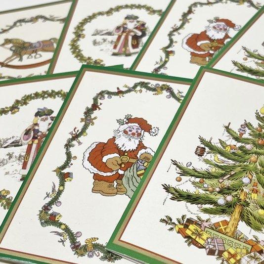 紙モノ雑貨 スポード Spode 未使用クリスマスカードタグ7枚セット