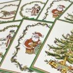 チケット、スコアパッドなどの紙物・紙モノ雑貨  紙モノ雑貨 スポード Spode 未使用クリスマスカードタグ7枚セット