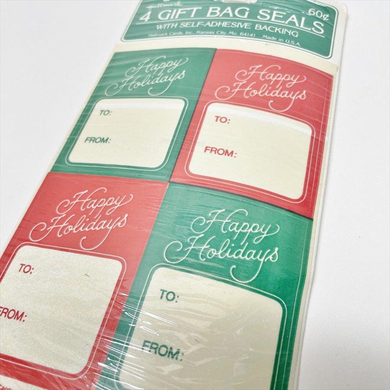 紙モノ雑貨 クリスマスプレゼント用タグシール 未使用