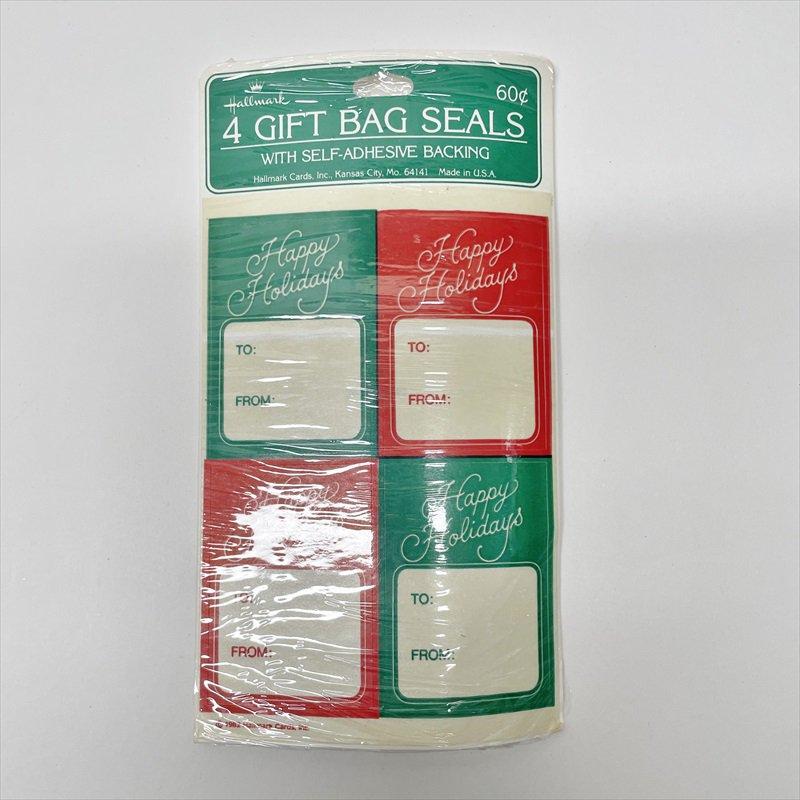 紙モノ雑貨 クリスマスプレゼント用タグシール 未使用【画像2】