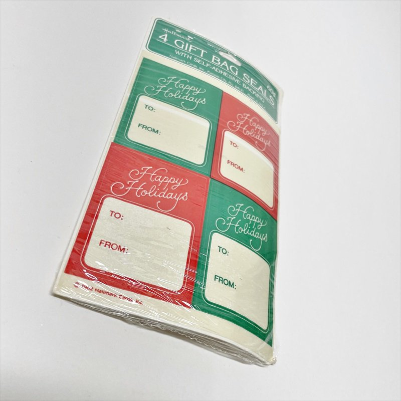 紙モノ雑貨 クリスマスプレゼント用タグシール 未使用【画像3】