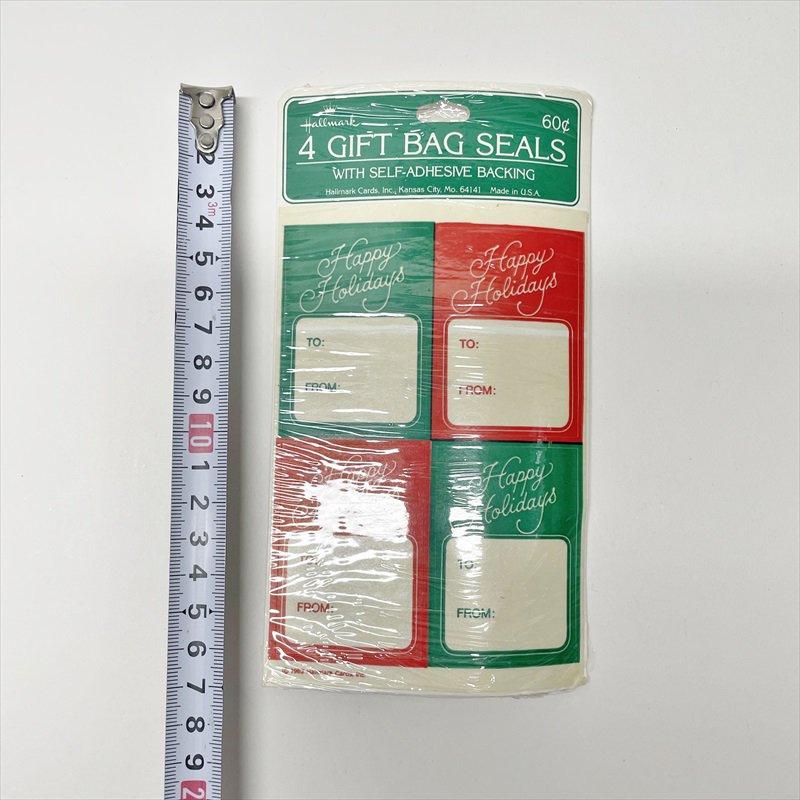 紙モノ雑貨 クリスマスプレゼント用タグシール 未使用【画像5】