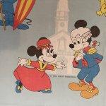 ヴィンテージシーツ ディズニーの物語 ミッキー&ミニー フラットシーツ