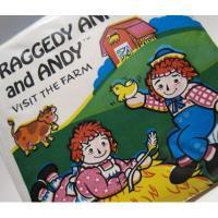 ラガディアン&アンディー 1974年出版・ラガディーアン&アンディ・ビニールブック
