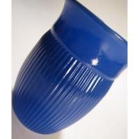 アメリカンミルクグラスブランド ヘーゼルアトラス・FINE RIB・リッツブルー・ジュースグラス【B】