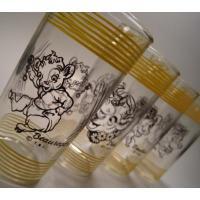 アドバタイジング・組織系 ボーデン・「Elmer/Elsie/Beauregard/Beulah」グラス4個セット