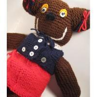 ぬいぐるみ 編みぐるみテディベア・女の子