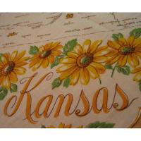 ファッション ビンテージハンカチ「Kansas★お土産ひまわり」