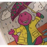 キャラクター バーニー「Barney, Dancin' In The Rain」/Playskool子供用8ピースパズル