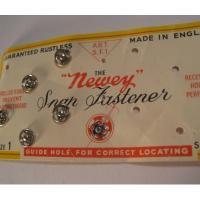 その他 イギリス製Newey Snap・スナップボタンセットシート付き