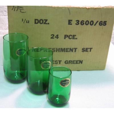 アンカーグラス・フォーレストグリーン・オリジナルラベル付グラス(3サイズ)