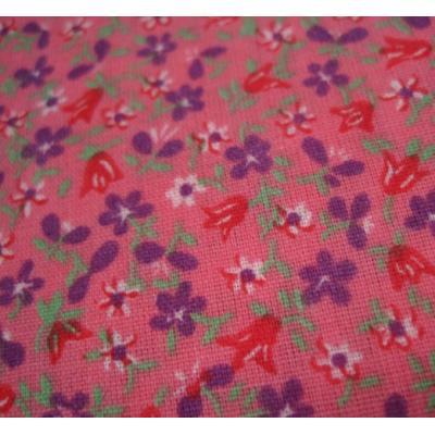 ピンクベース&紫・赤・白小花はぎれ【画像2】