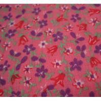 シーツ&ハンドメイド素材 ピンクベース&紫・赤・白小花はぎれ