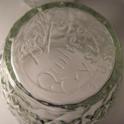 Quilted Crystal・Jelly Glass・レトロ花柄・白・蓋付き【画像4】