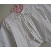 ベビー&キッズ 【新生児用】オーストラリア製デッドストック・ホワイトフラワー手刺し刺繍・おくるみジャケット