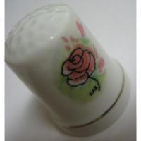 その他 ビンテージ・陶器製シンブル「ローズ」