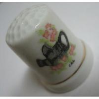 その他 ビンテージ・陶器製シンブル「じょうろとお花」