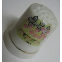 その他 ビンテージ・陶器製シンブル「フラワーガーデン」