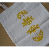 ローカルアーティスト ハンドメイド・Moon Tea Artwork「黄色のひまわり」シルクスクリーン・コットントートバッグ