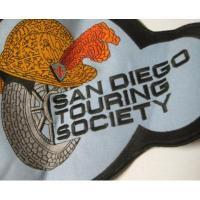 ハンドメイド用タグ&パッチ&アップリケ&ワッペン ビンテージXLワッペン・「San Diego Touring Society」