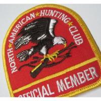 ハンドメイド用タグ&パッチ&アップリケ&ワッペン ビンテージワッペン・「North American Hunting Club」